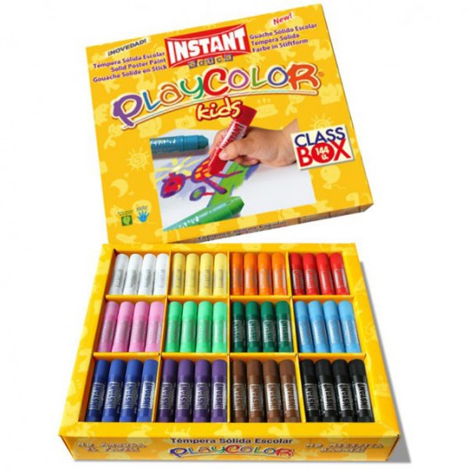 PlayColor kids 10g Caja Escolar 144u. - Témpera sólida