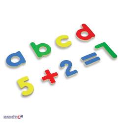 Letras y números magnéticos
