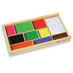 Regletas de madera Cuisenaire de diferentes longitudes para las matemáticas