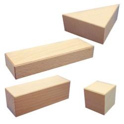 8 bloques de construcción, diferentes medidas y colores
