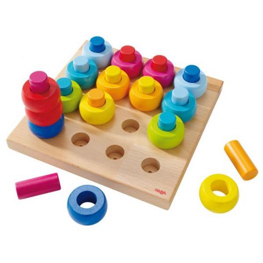 Juego para ensartar Roscas de colores