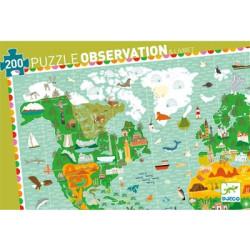Puzzle observación -La vuelta al mundo- 200 pzas.