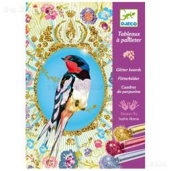 Cuadros de purpurina - Pájaros