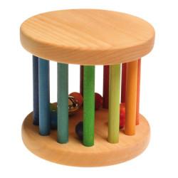 Sonajero rueda de madera grande - Arco Iris