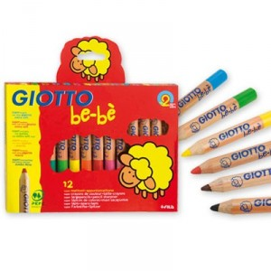 Giotto be-bé - 12 super lápices de colores + maxi sacapuntas