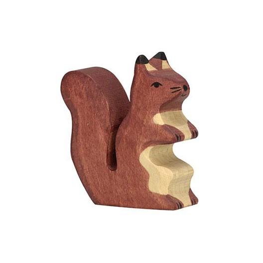 Ardilla marrón - animal de bosque de madera
