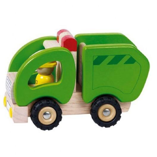 Camión de la Basura de madera