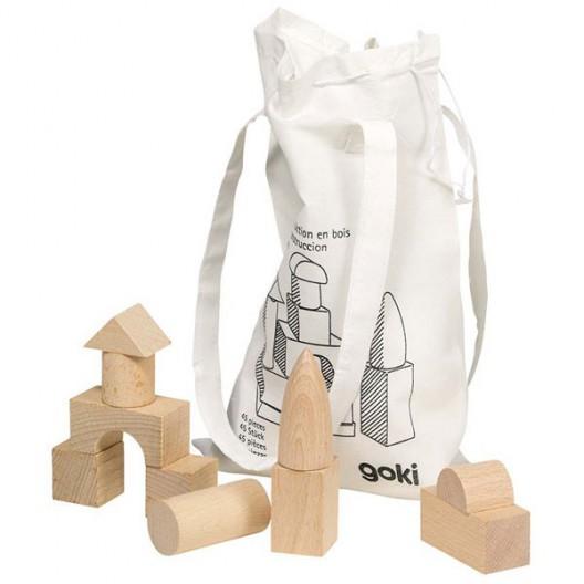 Piezas de construcción de madera