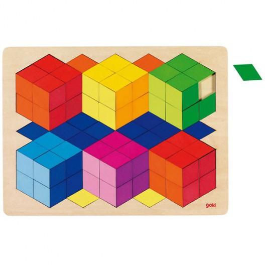 Puzzle óptico en 3D