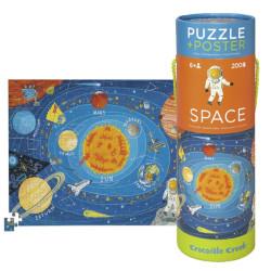 Puzzle y póster Espacio - 200 pzas.