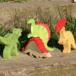 Stegosaurus - dinosaurio de madera