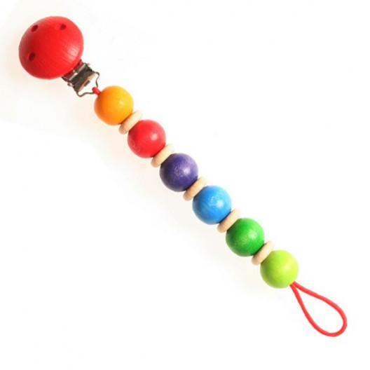 Cadena para el chupete - arco iris