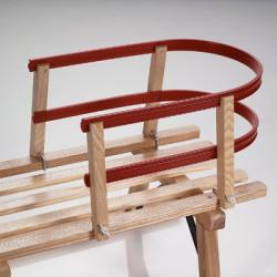 Respaldo fresno y plástico para trineos de madera