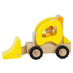 Pala cargadora de madera