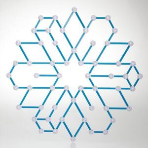 Zometool Ice Crystals and Stars - Set de cristales y estrellas, 90 piezas