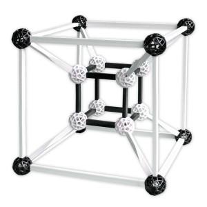 Zometool Design 3 - Set de construcciones en blanco y negro, 120 piezas