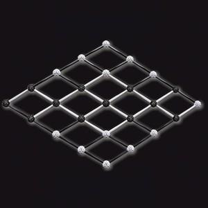 Zometool Design 5 - Set de construcciones en blanco y negro, 227 piezas