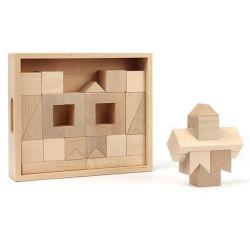 Caja bloques de madera de construcción GEO