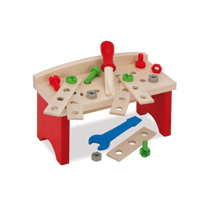 Banco de carpintero de madera con herramientas for Carpintero de madera