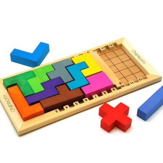 Katamino clàssic de fusta - Joc puzle d'estratègia