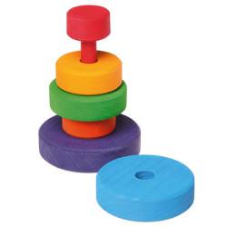 Torre apilable de madera de medidas pequeño