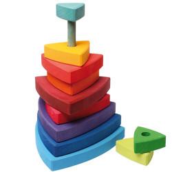 """Torre """"Wankel"""" apilable de madera"""