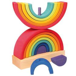 Torre apilable de madera con Arco Iris