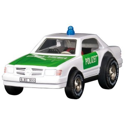 Coche de carreras Mercedes Policia, carcasa de metal - últimas unidades