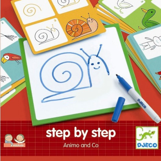 Juego Eduludo Step by Step Animo and Co - Aprende a dibujar