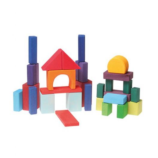 Geoblocks Arco iris - 30 bloques de madera de construcción