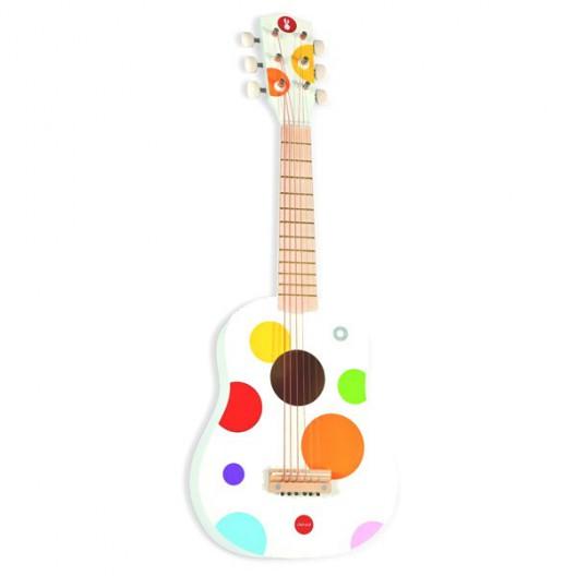 Guitarra blanca Confetti de madera