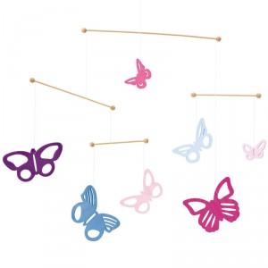 Mariposas coloridas - bonito móvil de decoración infantil