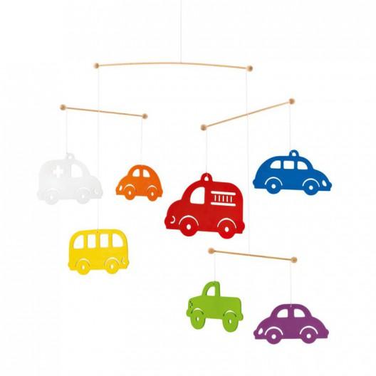 Coches coloridos - bonito móvil de decoración infantil