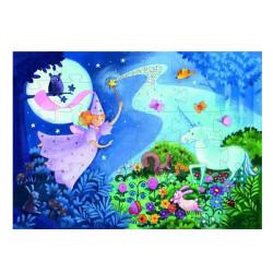 Puzzle silueta El hada y el unicornio - 36 pzas.