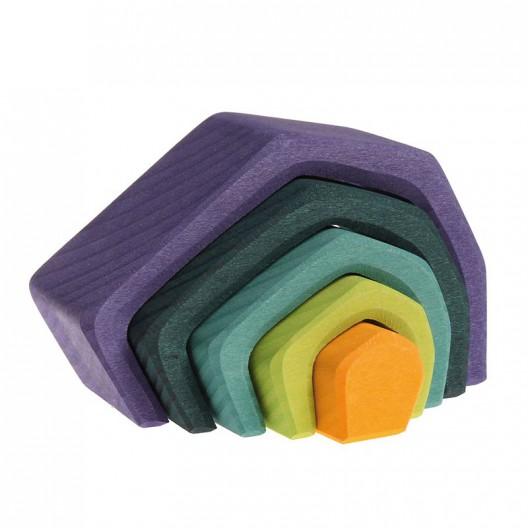Apilable de fusta en forma de Cova petit