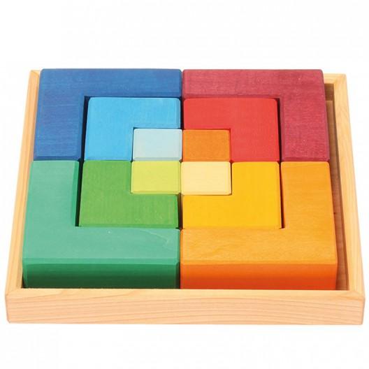 """Puzle creatiu quadrat de fusta """"Legespiel Viereck"""""""