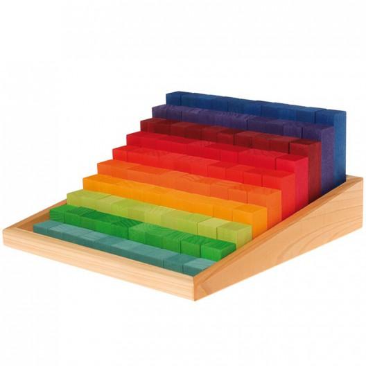 """Bloques escalados de madera para contar """"Stufenzählstäbe"""""""