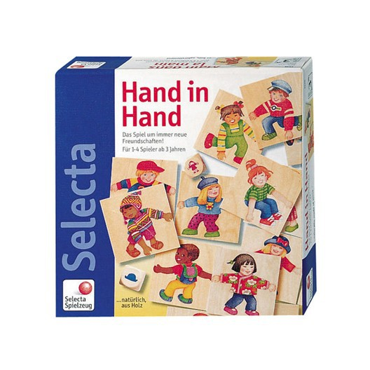 Cogiditos de la Mano - Juego de madera domino para niños