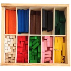 Regletas de madera Cuisenaire para aprender las matemáticas