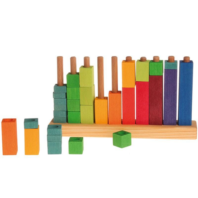 niosbloques y de para contar de madera con ideas de juego