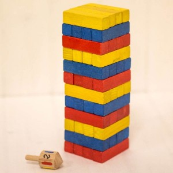 JENGA - Torre de bloques de madera y juego de destreza