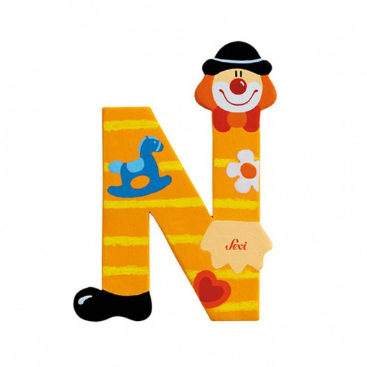 Clown Letter N Sevi Sev