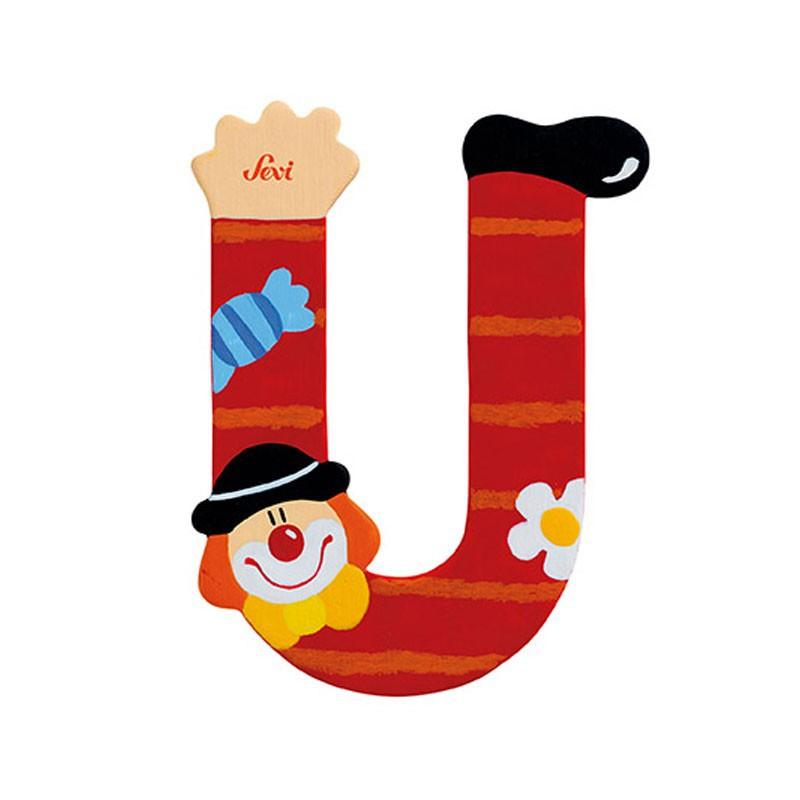 Clown Letter U Sevi Sev