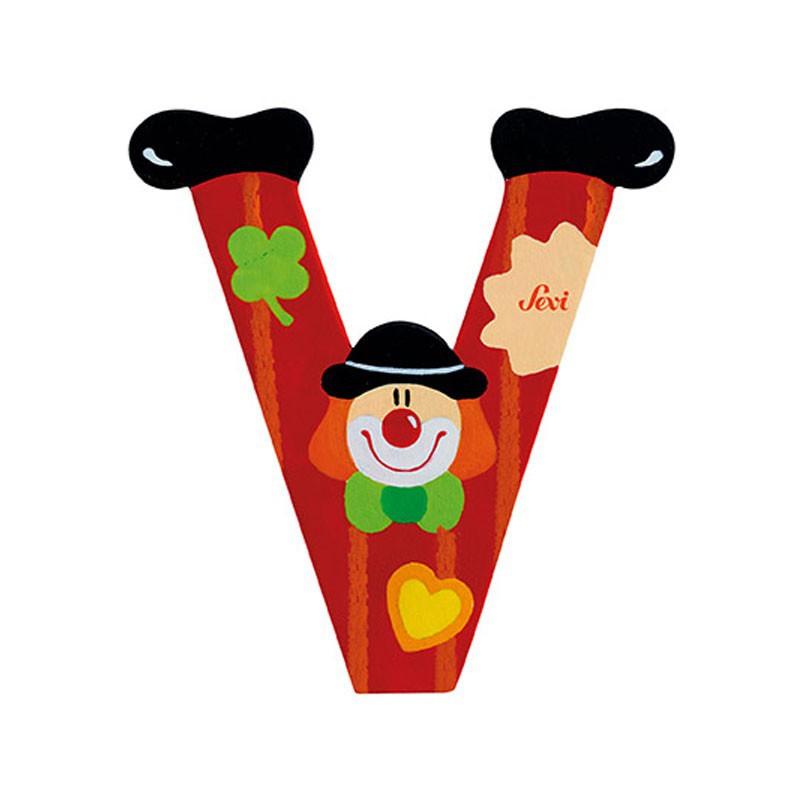 Clown Letter V Sevi Sev