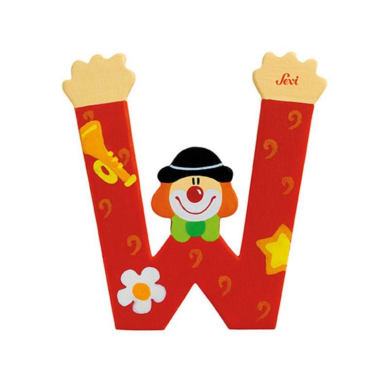 Clown Letter W Sevi Sev