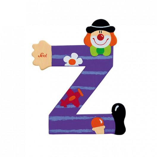 Letra Z de payaso