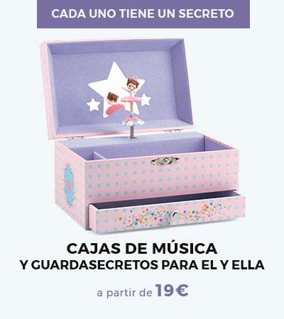 Djeco - cajas de música y guardasecretos