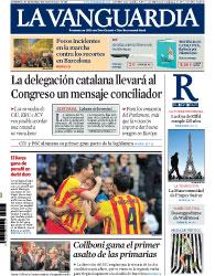 Portada La Vanguardia del 30 Marzo 2014