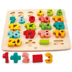 Puzle encaixable de fusta números de l'1 al 20 - 23 peces
