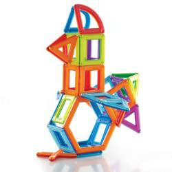 PowerClix marcs 48 peces imantades transparents - joguina de formes geomètriques